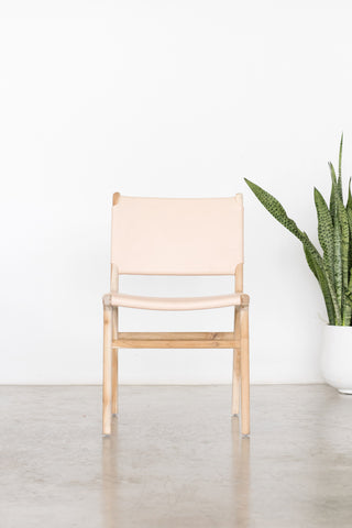 Bella Dining Chair - Blush Leather: Alternate View #2