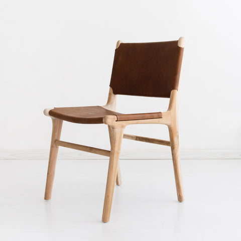 Bella Dining Chair - Tan Leather: Alternate View #2
