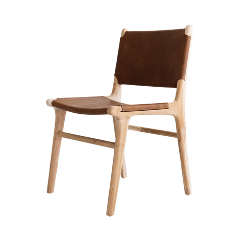 Bella Dining Chair - Tan Leather