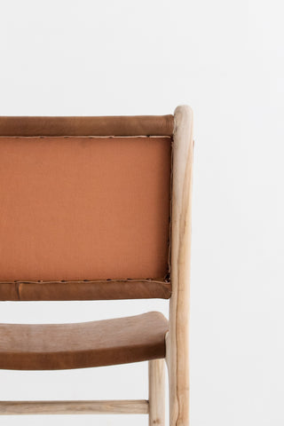 Bella Dining Chair - Tan Leather: Alternate View #9