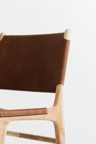 Bella Dining Chair - Tan Leather: Alternate View #8