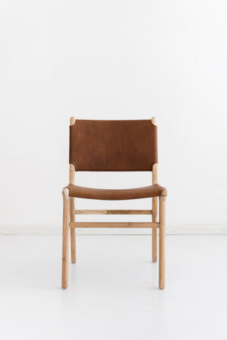 Bella Dining Chair - Tan Leather: Alternate View #3