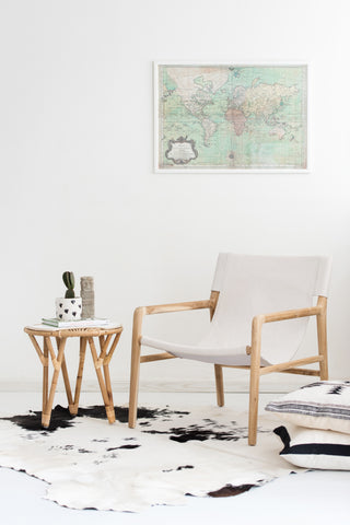 Bella Armchair - White Leather: Alternate View #8