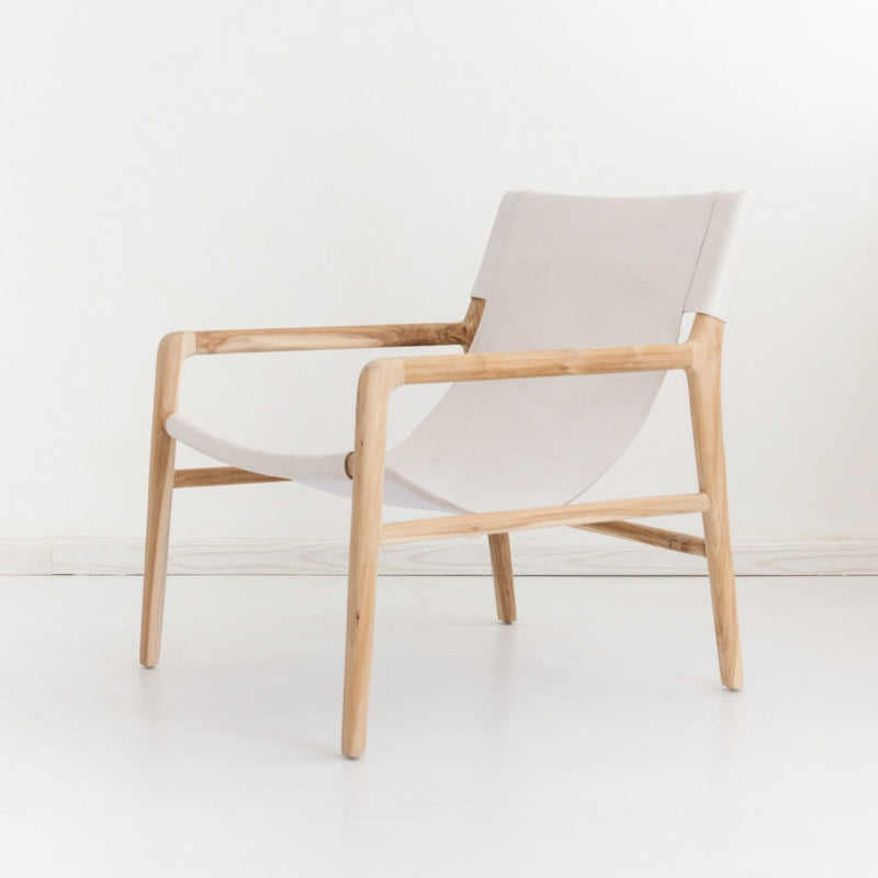 Bella Armchair - White Leather