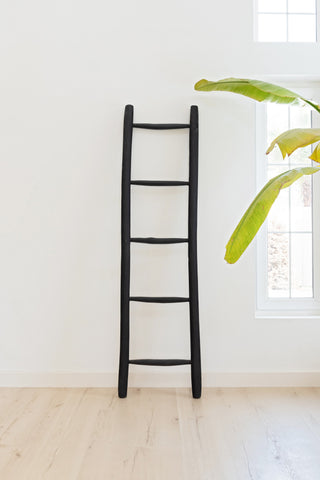Wooden Ladder Matt Black: Alternate View #2