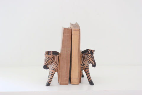 Kenyan Bookends - Zebra: Alternate View #2