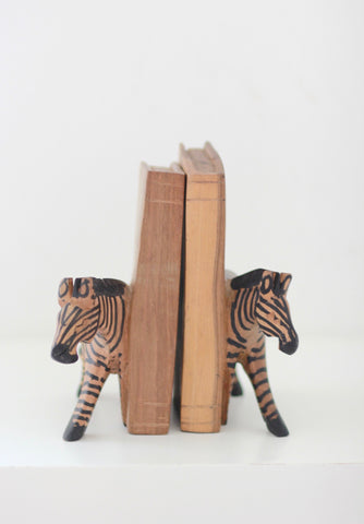 Kenyan Bookends - Zebra: Alternate View #3
