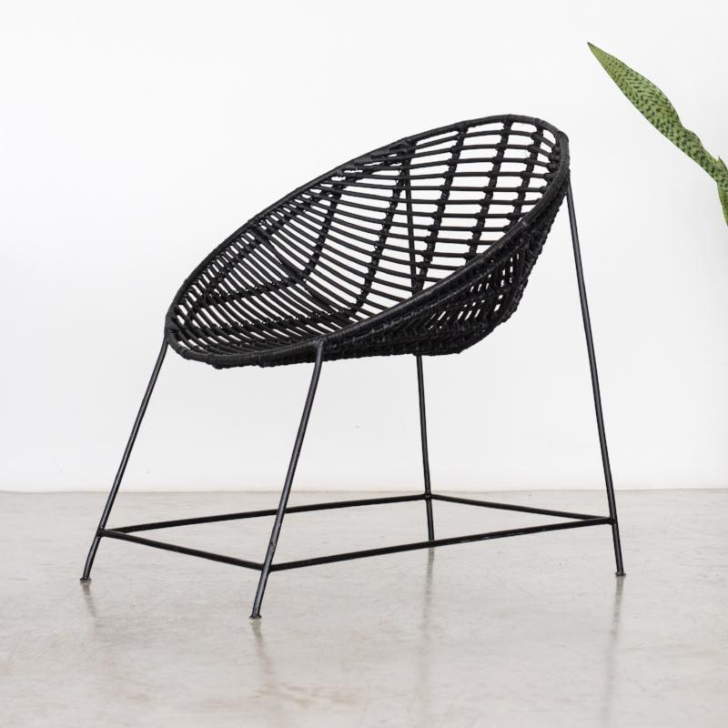 Rattan Bucket Chair Black & Rattan Bucket Chair Black u2013 White Moss
