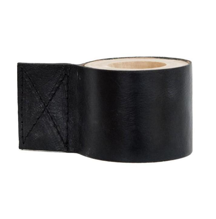 Leather Candle Holder Black