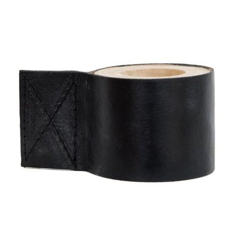 Leather Candle Holder Black: Alternate View #1