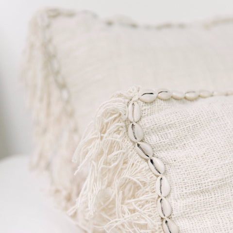 Oceana Shell and Fringe Cushion: Alternate View #3
