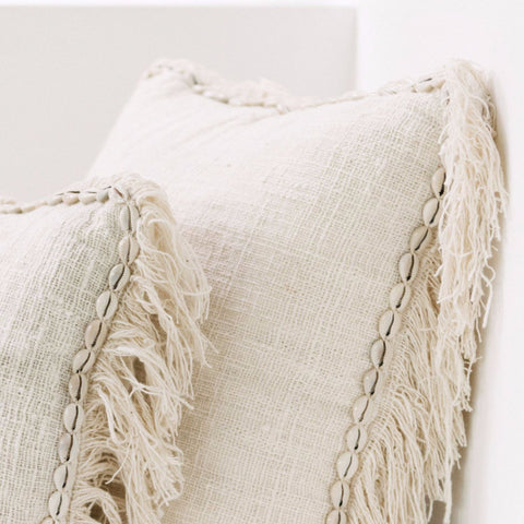Oceana Shell and Fringe Cushion: Alternate View #2