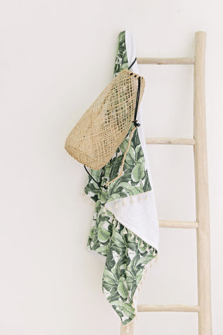 Beach Throw- Banana Leaf: Alternate View #4