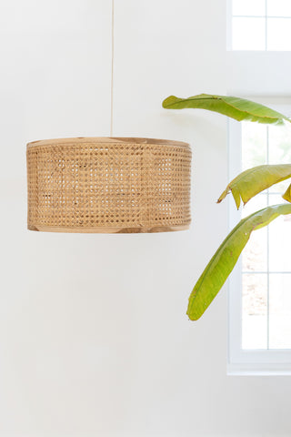 Cane and Wood Pendant Light: Alternate View #3