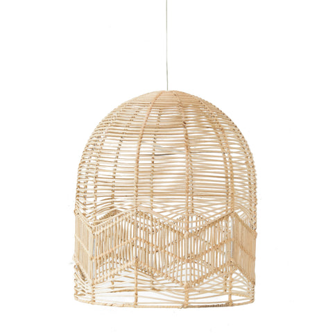Chevron Lace Pendant Light Natural