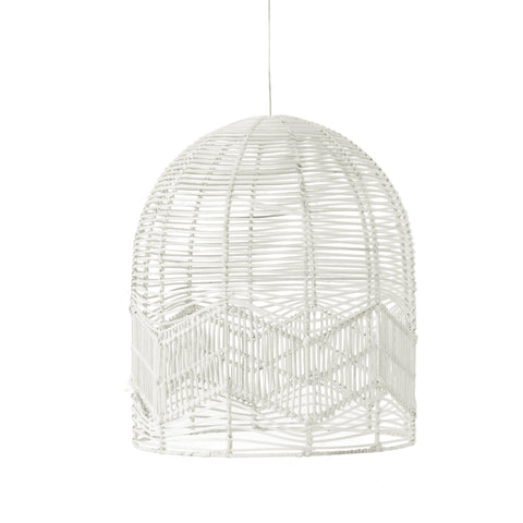 Chevron Lace Pendant Light White