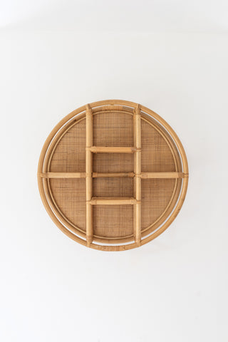 Cane & Rattan Circular Shelf: Alternate View #2