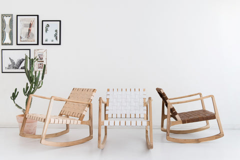 Beau Rocking Chair - White: Alternate View #8