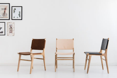 Bella Dining Chair - Blush Leather: Alternate View #8