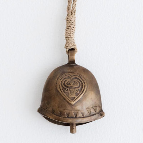 Antique Brass Cowbell