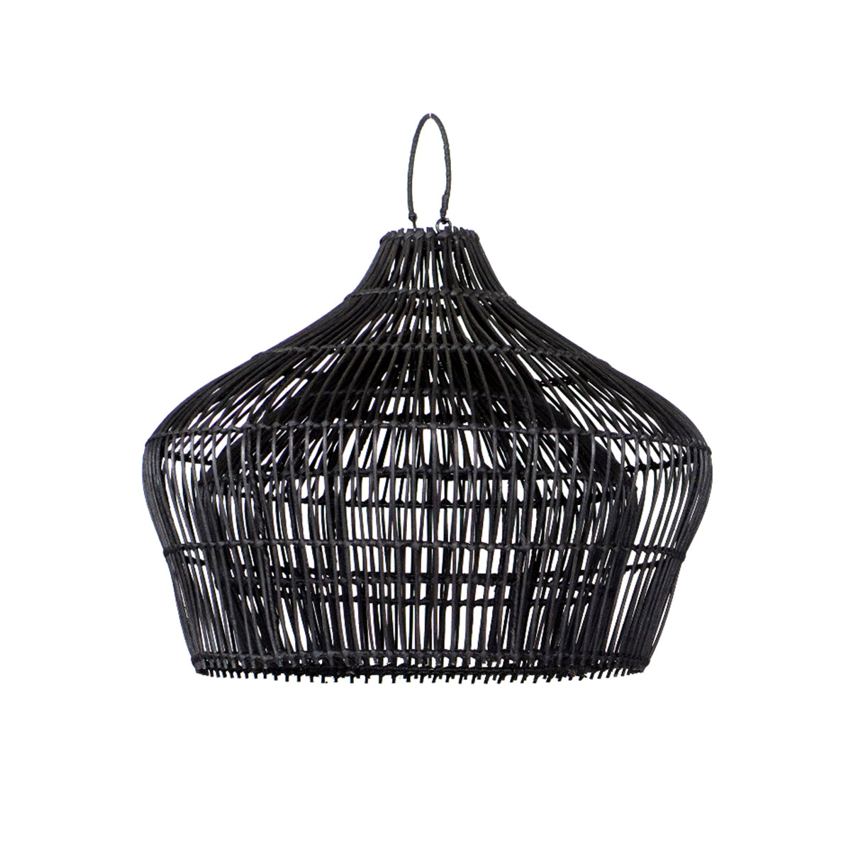 Double Belly Pendant Light Black