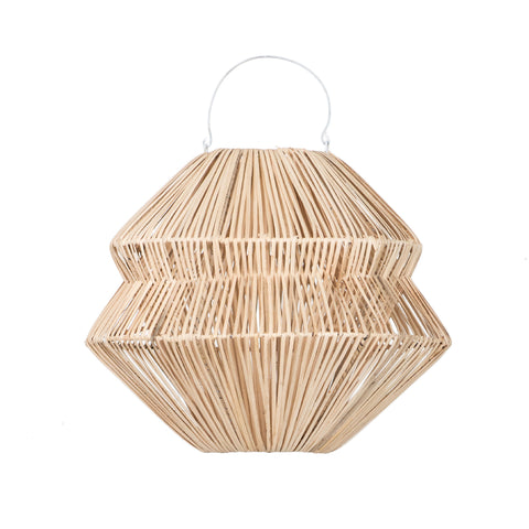 Gem Rattan Pendant Light Natural
