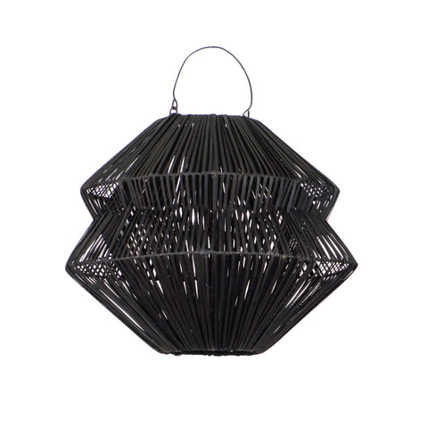 Gem Rattan Pendant Light Black
