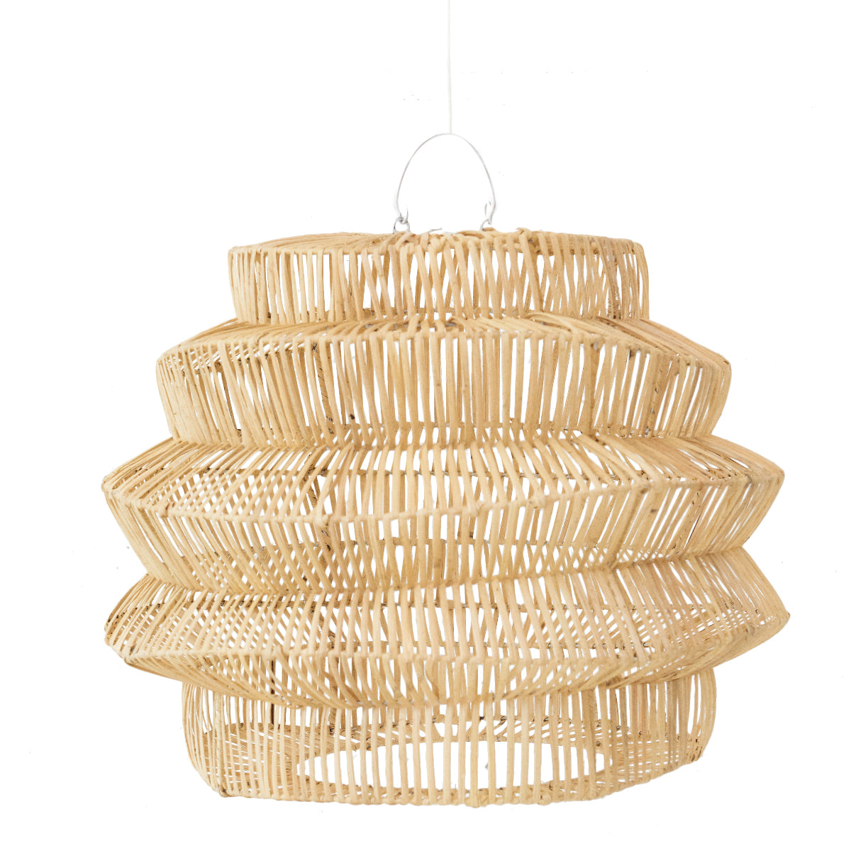 Geo Rattan Pendant Light Natural
