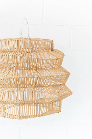 Geo Rattan Pendant Light Natural: Alternate View #2