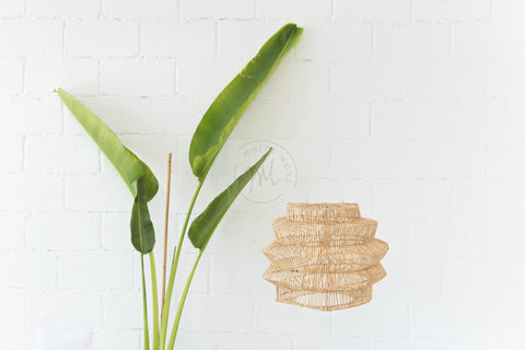 Geo Rattan Pendant Light Natural: Alternate View #3