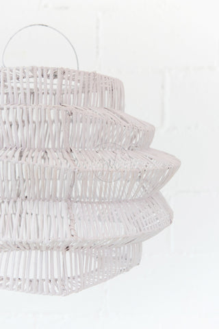Geo Rattan Pendant Light White: Alternate View #2