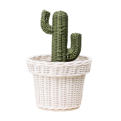 Rattan Cactus Pot: Alternate View #1