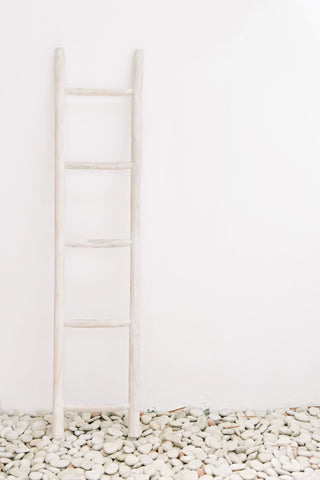 Wooden Ladder Whitewash: Alternate View #3