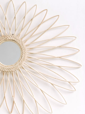 Starburst Rattan Mirror: Alternate View #3