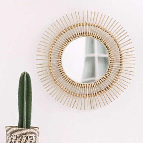 Sunburst Rattan Mirror: Alternate View #2