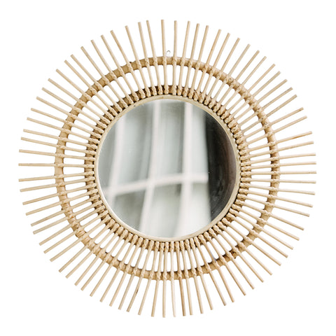 Sunburst Rattan Mirror: Alternate View #1