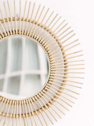 Sunburst Rattan Mirror: Alternate View #6