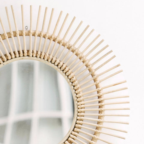 Sunburst Rattan Mirror: Alternate View #3