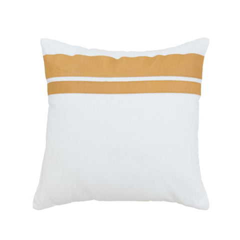 Golden Tan Leather Cushions