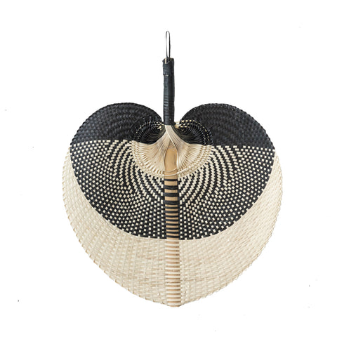 Hand Fan Natural & Black