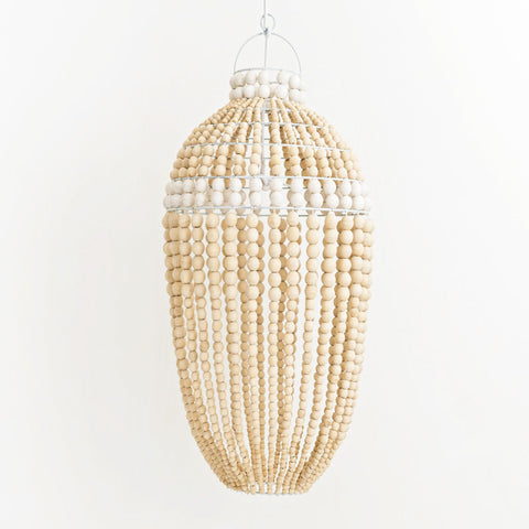 Honey Bead Pendant Light White