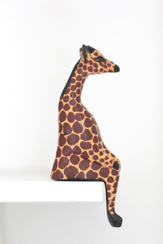 Shelfie Animal - Wooden Giraffe: Alternate View #2