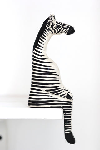 Shelfie Animal - Wooden Zebra: Alternate View #2