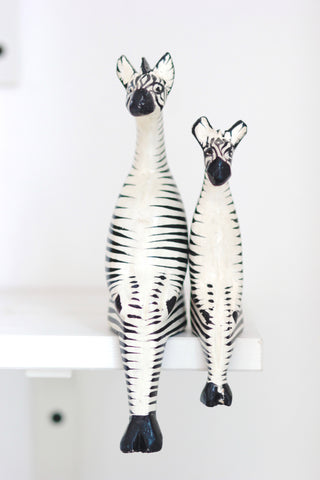 Shelfie Animal - Wooden Zebra: Alternate View #4