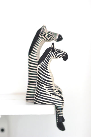 Shelfie Animal - Wooden Zebra: Alternate View #5