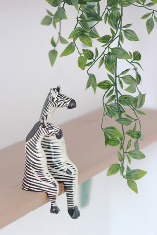 Shelfie Animal - Wooden Zebra: Alternate View #6