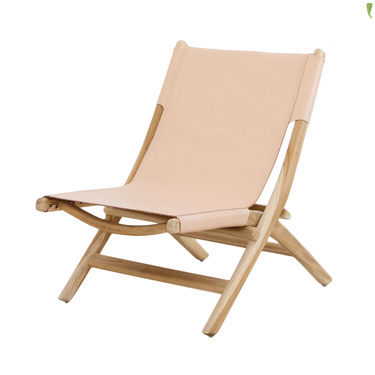 Kelly Blush Folding Leather Chair