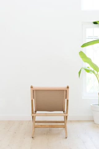 Kelly Blush Folding Leather Chair: Alternate View #6
