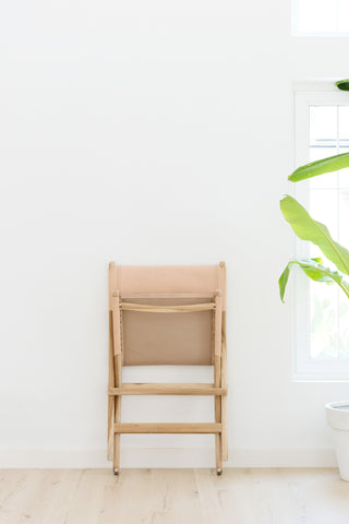 Kelly Blush Folding Leather Chair: Alternate View #7