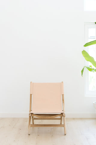 Kelly Blush Folding Leather Chair: Alternate View #4